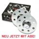 Spurverbreiterung 10mm je 5mm mit ABE M12 + M14 5x112 für VW Bus T3